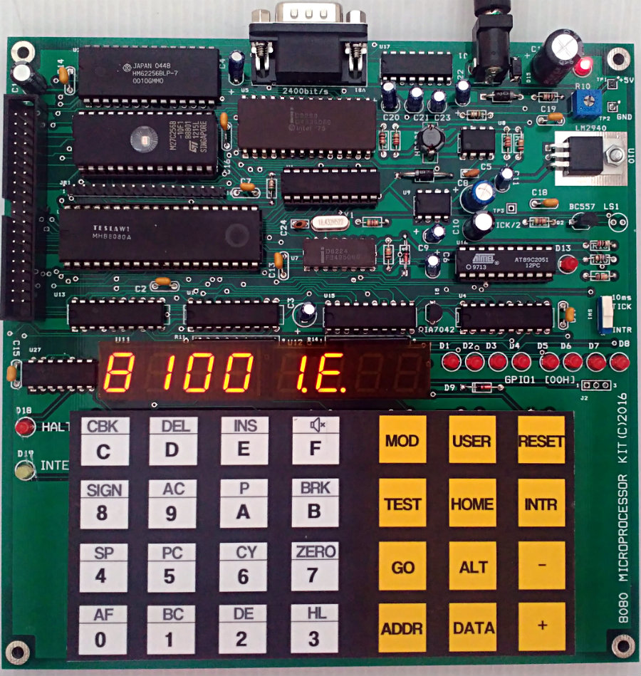 Build 8080 Microprocessor Kit Or Photo Of Computer Electronic Circuit Cpu Board Breaking Binary Code Download Hardware Schematic Quick Start Pld Files Monitor Program