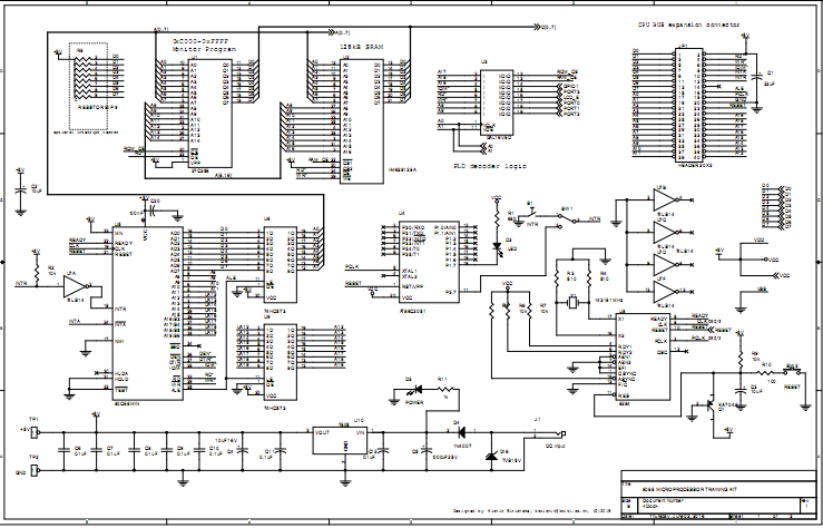 Build your own 8088 Microprocessor kit