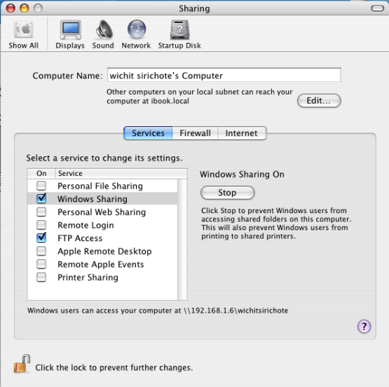 Connecting iBook and Windows for files sharing