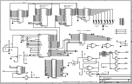Build your own 8085 microprocessor kit hardware schematic click to enlarge ccuart Choice Image